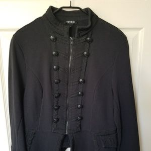 Military style zip jacket - button missing